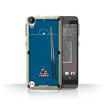 STUFF4 Case/Cover for HTC Desire 630/Pool/Billiards Blue/Games