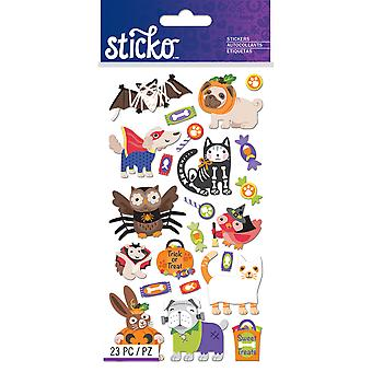 Sticko Stickers-Halloween Animal Characters E5201410