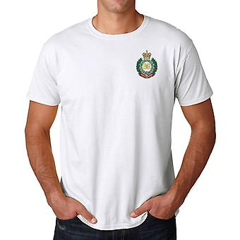Royal Engineers RE Sappers geborduurd Logo - officiële Britse leger Ringspun T Shirt