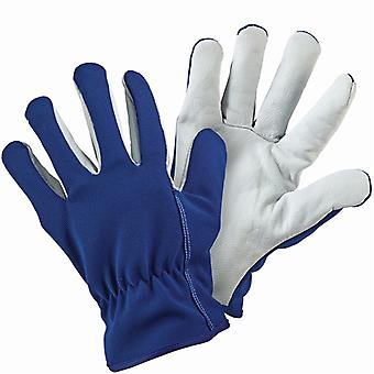 Briers Lined Dual Blue Leather Gardening Gloves  - Large