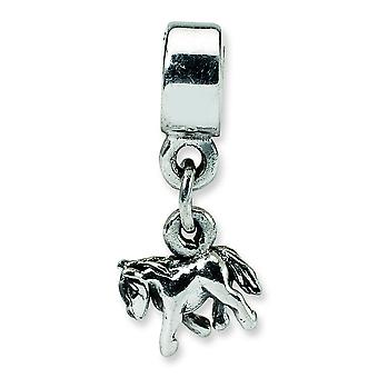 Sterling Silver riflessioni bambini Pony Charm con perlina