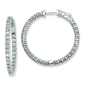 Sterling zilveren Zirkonia ronde Hoop Earrings Hoop Earrings