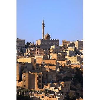 Aerial view of traditional houses in Amman Jordan Poster Print by Keren Su