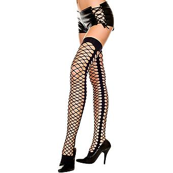 Fishnet Stockings With Seam At The Side-Black