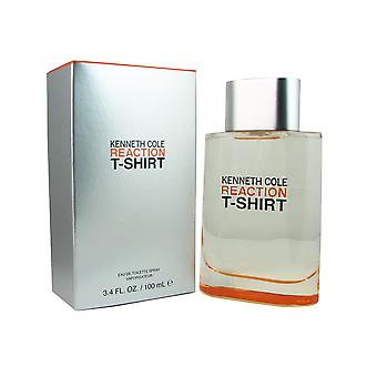 Kenneth Cole Reaction T-Shirt For Men 3.4 oz EDT Spray
