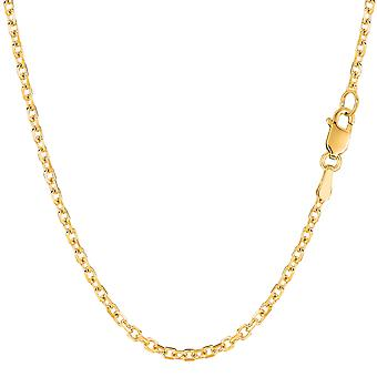 14 k jaune or câble Link Chain Necklace, 2,3 mm