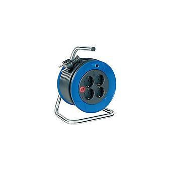 Brennenstuhl cable reel-4xCEE 7-4 socket-1xCEE 7-7-15 m-blue-black