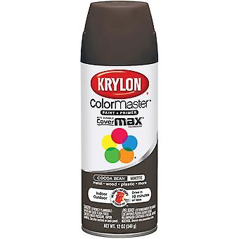 Colormaster Indoor/Outdoor Aerosol Paint 12oz-Cocoa Bean Matte 1000A-3591