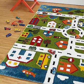 Børnene sjove interaktive Multi Play by kort soveværelse tæppe