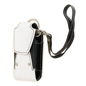 Xentris Universal Slim Fashion Rugged Pouch with Wrist Strap (White & Black)