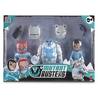Famosa Mutant Busters 3 Figures Pack Ice 2 (Toys , Action Figures , Dolls)