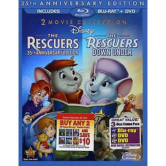 Rescuers/Rescuers Down Under [BLU-RAY] USA import
