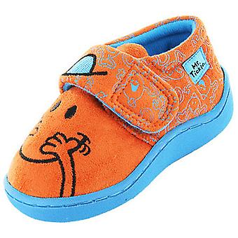 New Kids Boys Novelty Mr Men Mr Tickle Giggle Cartoon Character Slipper 64533