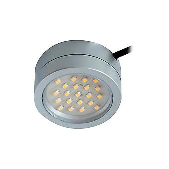 LED Robus Captain 2W LED Mains Cabinet Light - Satin Silver