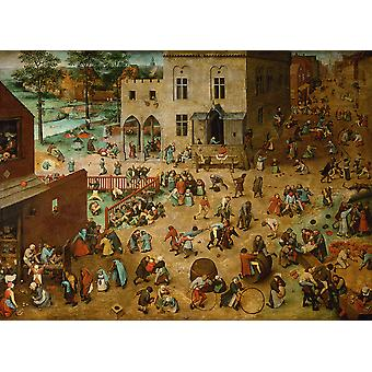 Pieter Bruegel the Elder - Children's Games Poster Print Giclee
