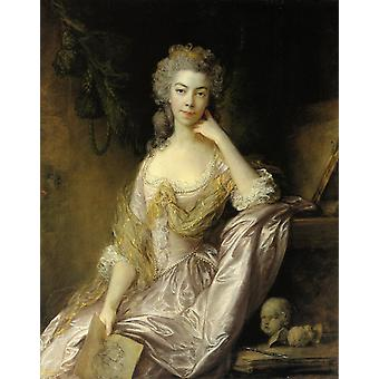 Thomas Gainsborough - Mrs Drummond Poster Print Giclee
