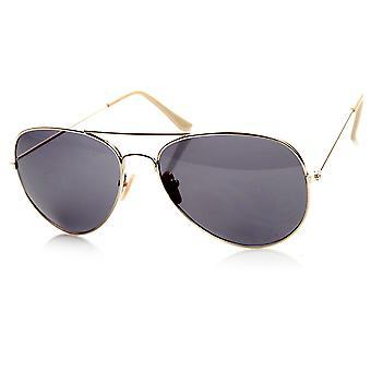 Original Basic Casual Fashion Metal Aviator Sunglasses - 56mm Lens