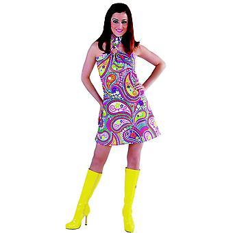 Kvinder kostumer kvinder kjole funky farver hippie halvfjerdserne