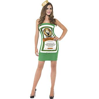 Vrouwen kostuums Women Party girl fles green