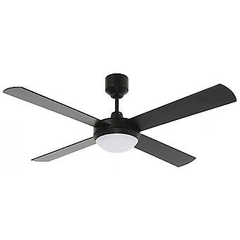 LED ceiling fan Futura Eco Black with remote control