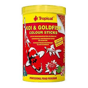 Tropical Koi & Goldfish Color Stick Bag 5L / 400 G (Vissen , Visvoer , Koud water)