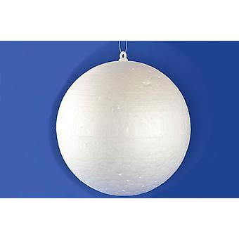 20 Polystyrene 100mm Baubles with Hooks and Thread for Christmas Craft