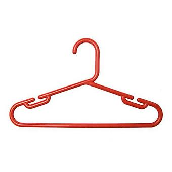 1 pakje van 10 Childs Red polypropyleen Hangers 30cms