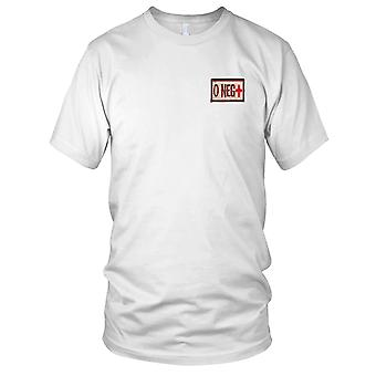 US Army - sangue di tipo O negativo deserto ricamato Patch - Hook e Loop Ladies T Shirt