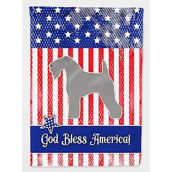 Carolines Treasures  BB3292GF USA Patriotic Kerry Blue Terrier Flag Garden Size
