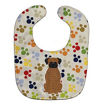 Каролинских сокровища BB5946BIB Pawprints тигровый боксер ребенок нагрудник