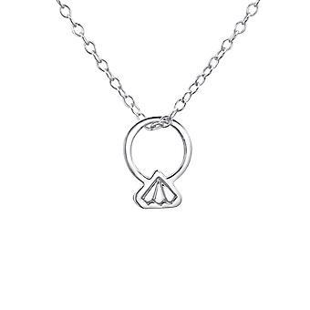 Ring - 925 Sterling Sølv Plain halskæder - W23312X