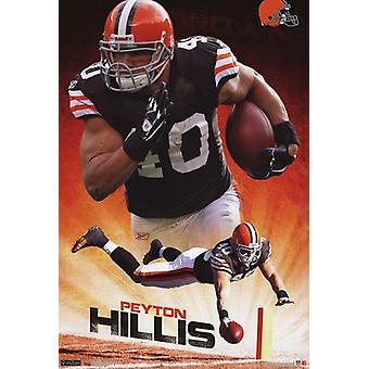 Cleveland Browns - Peyton Hillis 2011 cartel Poster Print