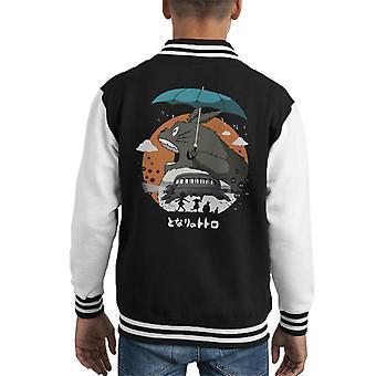 The Neighbors Journey My Neighbor Totoro Kid's Varsity Jacket