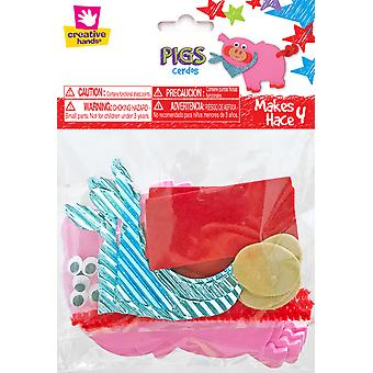 Pig Stickers Craft Kit 4/Pkg-  7070S
