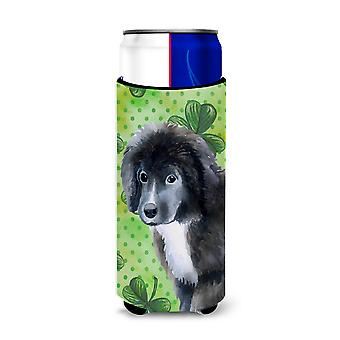Newfoundland Puppy St Patrick's Michelob Ultra Hugger for slim cans