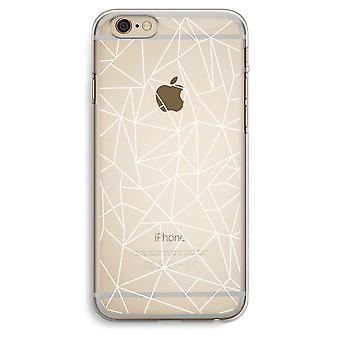 iPhone 6 Plus / 6S Plus transparant Case (Soft) - geometrische lijnen wit