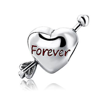 Charms Bead heart arrow Forever in Silver 925