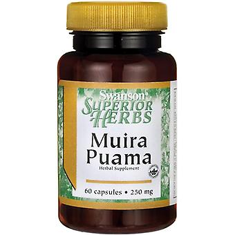 Swanson Muira Puama 250 mg 10:1 60 caps (Vitamins & supplements , Special supplements)