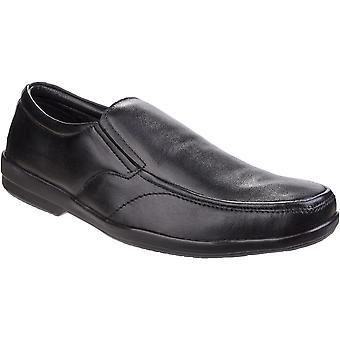 Fleet & Foster Mens Alan Formal Apron Toe Slip On Comfy Smart Shoes