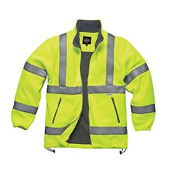 Dickies Mens arbetskläder Hi Vis Fleece gul SA22032Y