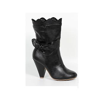 Ellie Shoes E-BP403-Lamour Scallop Detail Boot