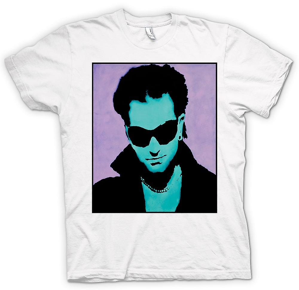 Hommes T-shirt - U2 - Bono - Pop Art