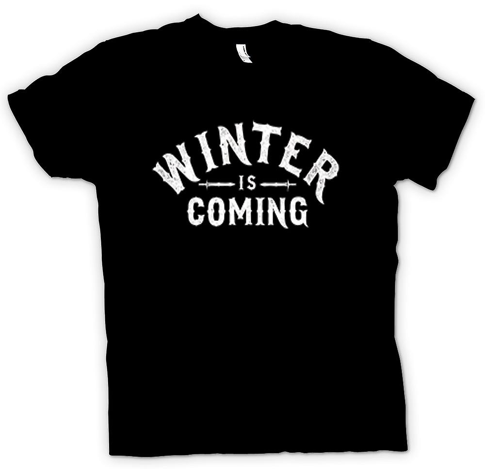 T-shirt des hommes - Winter Is Coming Lettrage