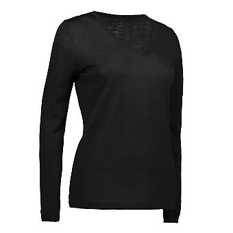 ID Classic Womens/Ladies V-Neck Pullover