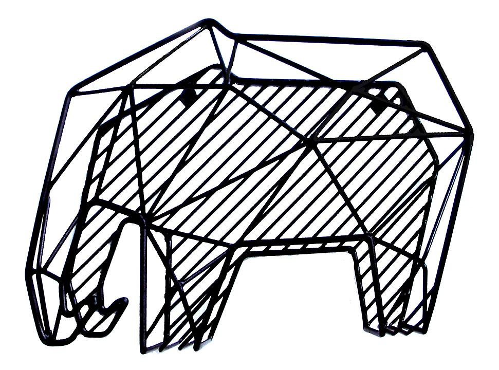 Elephant Letter Rack for Desk or Wall Hanging