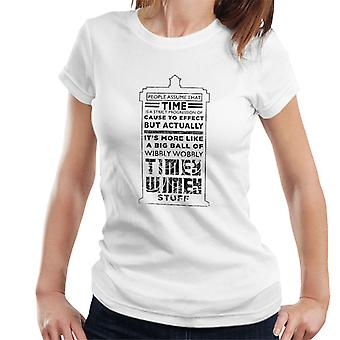Doctor Who Tardis Time Quote Women's T-Shirt