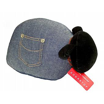 Denim Sheep Doorstop by Monica Richards