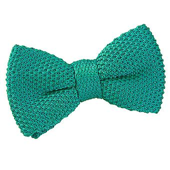 Teal Knitted Pre-Tied Bow Tie for Boys