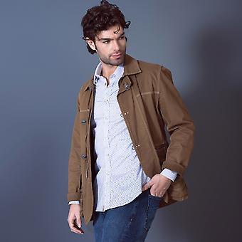 Fabio Giovanni Ruffano Shirt - Italian Stretch Cotton Poplin Blue Shirt