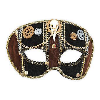 Dominó steampunk accesorio engranaje ojo máscara